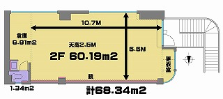 高田馬場 レンタスタジオ は踊りやすい長方形型です。