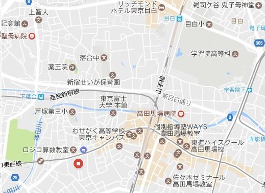高田馬場 周辺にある 学校一覧です。